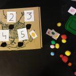 Caja de números para practicar el conteo