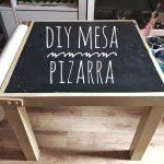 Cómo hacer una mesa infantil con pintura de pizarra