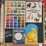 Cuatro libros de animales al estilo Montessori